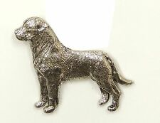 Rottweiler (with tail) Brooch, Silver Plated