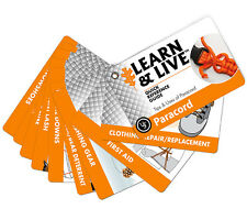 UST Live and Learn Paracord Uses Reference Cards Ultimate Survival Technologies