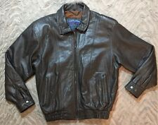 Bomber Club House Members Only Brown Soft Leather Jacket  Sz 40 Bikers Zip Men's