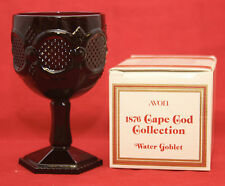 Avon CAPE COD Ruby Red Large Water Goblet w/ Box