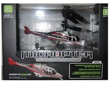 New PROPEL R/C MICROPTER Micro Wireless INDOOR Helicopter 100' Range LED Strobe
