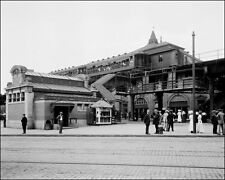 1910 Brooklyn Subway Station Photo 8X10  B&W - Buy Any 2 Get 1 FREE
