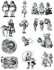 Alice in wonderland un mounted rubber stamp 1 Full sheet