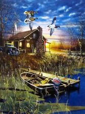 "My Favorite Place By Jim Hansel Duck Cabin  Print Image Size 12"" x 16"""