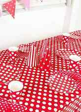 POLKA DOT TABLECOVER BIRTHDAY WEDDING PARTY SUPPLIES DECORATIONS TABLECLOTH RED