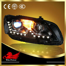 For 2011-2014 Volkswagen Passat V6 B7 Xenon Headlight with LED DRL and Angel Eye