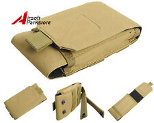 "5.5"" Tactical Outdoor Molle Cell Phone Pouch Case Belt Loop for iPhone6 Plus Tan"