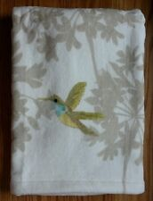 Free Spirit Peri Garden Plush Bath Towel Only Hummingbird Flowers