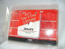 NEW 2017 TEAR OFF DESK CALENDAR DAY VIEW WITH QUOTES JOKES FACTS STAND TALLON