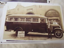 NEW 1934 FORD ROUND LAKE BEACH BUS LINE   11 X 17  PHOTO  /  PICTURE