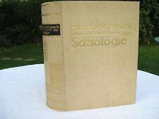 Erstausgabe 1931 Handwörterbuch der Soziologie hrsg Alfred Vierkandt