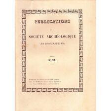 Société ARCHEOLOGIQUE Montpellier Inquisition à Carcassonne et Arts 1856 T4 N°24