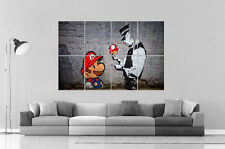 BANKSY STREET ART MARIO BROS 02 GRAFFITI Wall Art Poster Grand format A0 Large