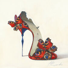 Inna Panasenko: Sketches of Love V Fertig-Bild 30x30 Wandbild High Heel Kult