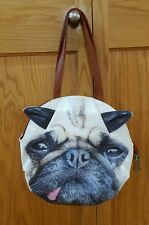 Pug Tongue Out Dog Purse Shoulder Bag