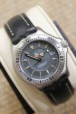 Tag Heuer NEW NWT WI1211 GRAY BLACK SEL Professional Womens Watch Midsize Mens