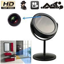 Table Mirror Motion Detection Mini Spy Hidden Camera DV Cam Record 16G Black TR