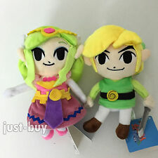 2 The Legend of Zelda Plush Link Princess Zelda Soft Toy Teddy Stuffed Animal 7""