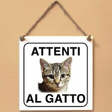 Gatto europeo 5 Attenti al gatto Targa gatto cartello ceramic tiles