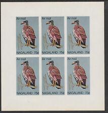 Nagaland (2199) - 1969 def 75c Eagle imperf sheetlet of 6 unmounted mint