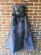 Nientie Size 4 Gray Beaded Formal Dress Gown Woman's Gray Tulle UK Designer