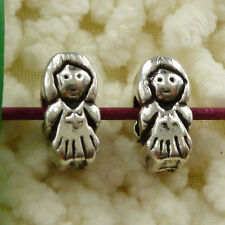 free ship 34 pieces tibetan silver girl spacer beads 13x6mm(for bracelet) #2666