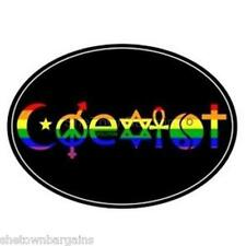 Coexist Auto or Truck Magnet Gay Pride Rainbow Euro Magnet Equality