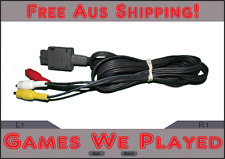 Genuine Super Nintendo SNES & N64 AV Cord Cable Replacement Preloved Original **