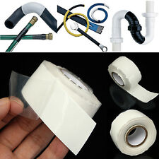 White Silicone Performance Repair Bonding Rescue Self Fusing Wire Hose Tape 10FT
