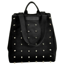 Womens Vintage Rivet  Shoulder Bag Handbag Punk Large Tote Canvas School Satchel