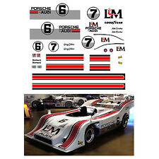 #6 L&M Can Am Porsche 1972 decal 1/64 scale AFX Tyco Lifelike Autoworld