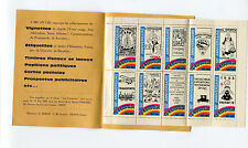 Poster Stamp Label L'ARC EN CIEL 1963 Paris 10 commemorative set     #IM