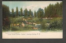 c 1905 unmailed post card Flower Garden Yaddo Saratoga Springs NY/Rotograph