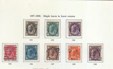 CANADA 1897 DEFINITIVE SET TO 10C USED SG141 TO 149