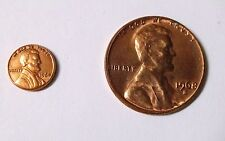 "1964 Mini Lincoln Cent 9 mm /.352"" 5 coins to a Lot"