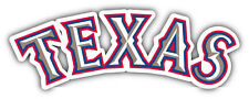 "Texas Rangers MLB Baseball Vinyl Car Bumper Window Sticker Decal 7""X3.2"""