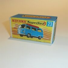 Matchbox Superfast 23 VW Volkswagen Camper empty Repro G style Box