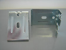 2 GRABER METAL CELL SHADE BRACKETS FITS ALL CORDLESS TOP DOWN & BOTTOM UP NEW