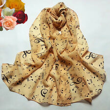 1PC Women Lady Musical Note Chiffon Neck Scarf Shawl Muffler Scarves