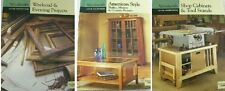 SET of 3 WOODSMITH BOOKS CARPENTER CUSTOM WOODWORKING SHOP CABINETS SHAKER STYLE