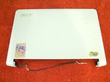 Acer ZG5 AOA 150-1786 White Lid LCD Back Cover w/Bezel and WiFi Antenna #265-76