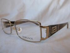 VERSACE GLASSES FRAME VE1163B 1221 PLATINUM BROWN HORN 52-16-130 NEW & AUTHENTIC