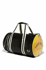 Fred Perry Classic Barrel Gym Bag Travel Fitness Black Mens  Black Fridat Offer