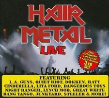 Hair Metal Live by Various Artists (CD, Aug-2010, 3 Discs, Cleopatra)