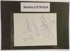 Autografo originale Natalia Estrada - foglietto - 1995 ca. 244