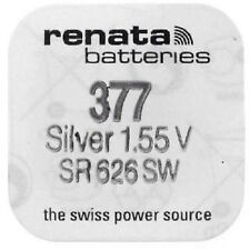 Renata Watch Batteries Swiss Made Cell Button Silv-Oxide 1.55v-377 SR626SW AG-4