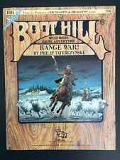 MINT, BH5 Boot Hill Wild West Game, Range War! Module Book & Board RPG, TSR 1984