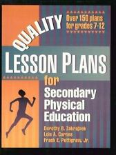 Quality Lesson Plans for Secondary Physical Education by Lois A. Carnes,...