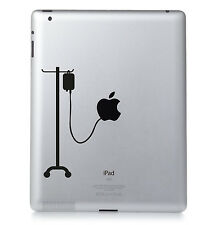 HOSPITAL DRIP #01  Apple iPad Macbook Laptop Sticker Vinyl decal. Custom colour