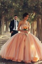 New Formal Prom Party Pageant Quinceanera Dress Ball Gown Wedding Dresses Custom